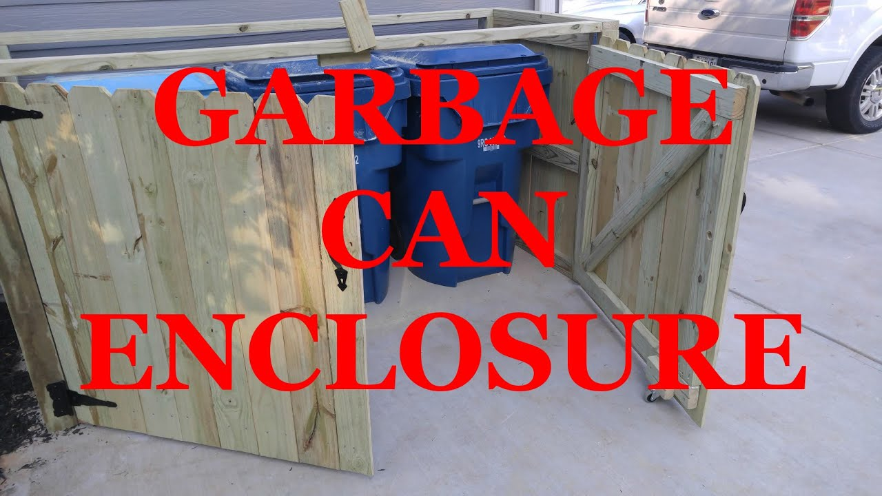 Making A Garbage Can Enclosure Youtube