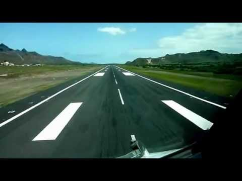 Landing at Sao Vicente Airport, Cape Verde