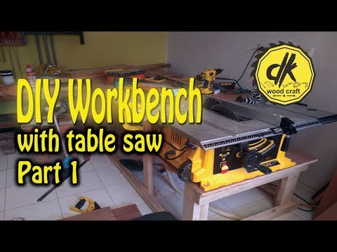DIY Workbench with table saw. Part 1