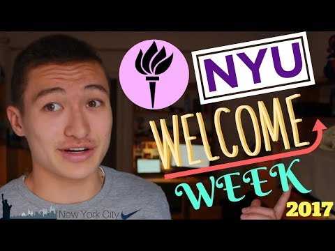 😀 NYU Welcome Week / Rubin Hall college move in day 2017 + My First Week of College!