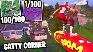 I Got 100 Fans to Compete by ONLY Landing at CATTY CORNER!