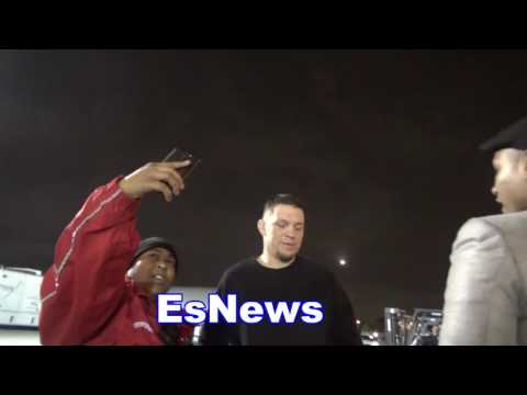 Funny Security Try To Shutdown Nate Diaz Interview With Seckbach Look What Happens EsNews Boxing