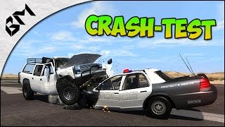 BeamNG Drive - Vehicles Crash Test - Police Chase !