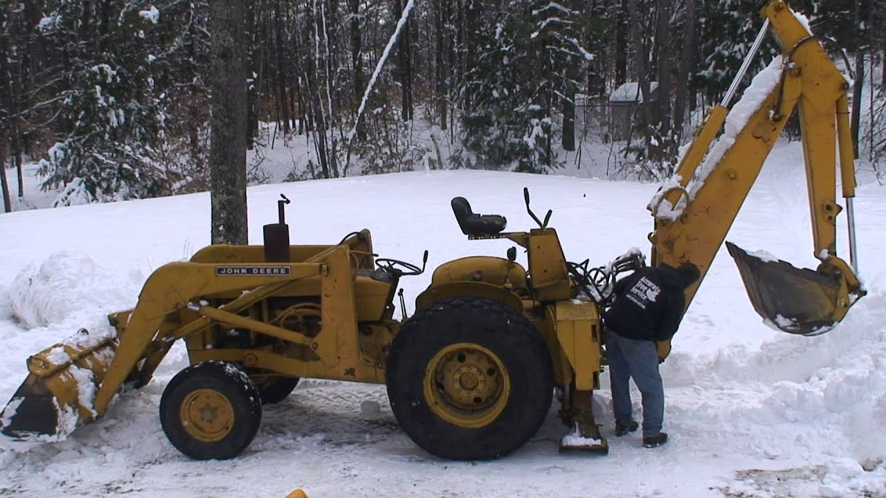 1970 john deere jd400 tractor loader backhoe