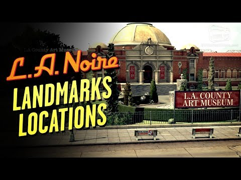 LA Noire Remaster - Landmarks Locations [Star Map Trophy / Achievement]