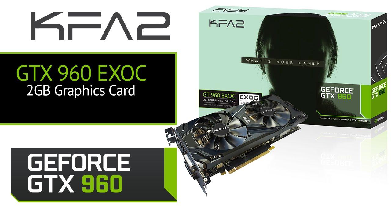KFA2 NVIDIA GeForce GTX 960 EXOC 2GB Graphics Card!