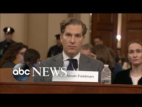 Noah Feldman delivers opening statement at impeachment hearing l ABC NEWS