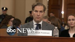Noah Feldman delivers opening statement at impeachment hearing l ABC NEWS