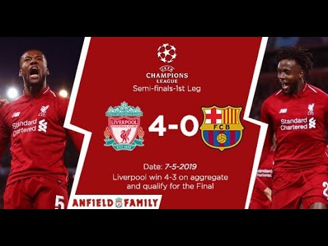 UEFA Champions League | Liverpool Vs Barcelona 4 - 0 | Post Match Analysis and Reactions