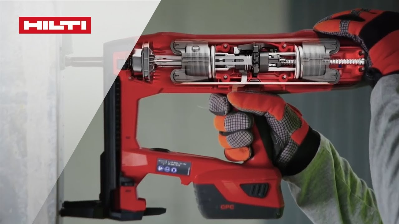 Hilti electrical & mechanical fastenings gx 120-me gas-actuated fastening tool for mechanical and electrical applications.