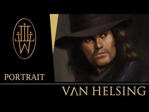 """""""Van Helsing"""" - Portrait Painting By Luke Wells 2019"""