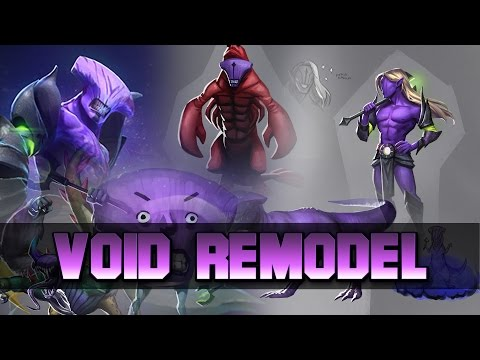 Dota 2 Void Remodel (Side by side comparison)