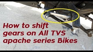 Video How To Shift Gears On Motorcycle like TVS Apache RTR 160 | 180 | 200 4V | India download MP3, 3GP, MP4, WEBM, AVI, FLV Oktober 2018