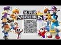 Waluigi, Daisy, Magikoopa, Shy Guy, MORE Mii Fighter QR Codes for Smash Bros