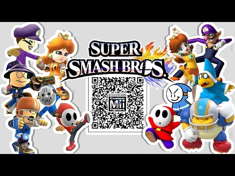 Daisy magikoopa shy guy amp more mii fighter qr codes for smash bros
