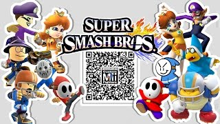 Waluigi, Daisy, Magikoopa, Shy Guy, & MORE! Mii Fighter QR Codes for Smash Bros