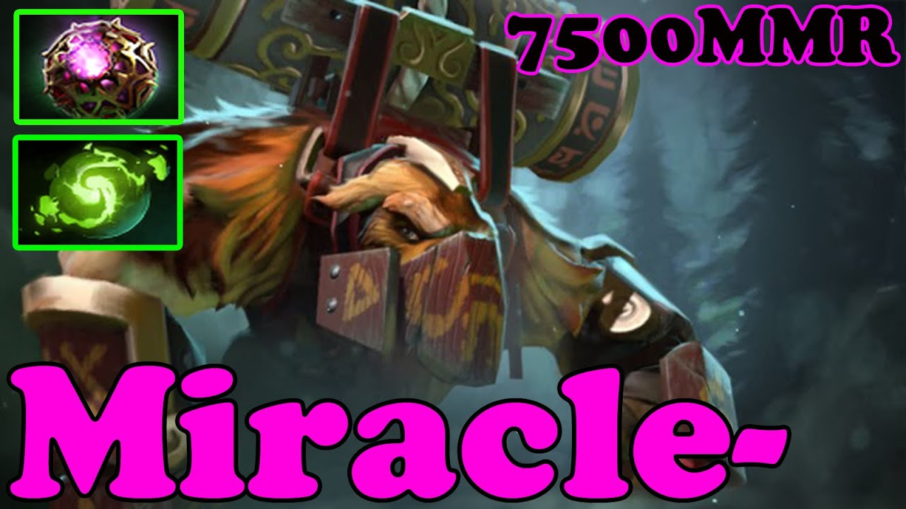Dota 2 Miracle Plays Earthshaker Vol 5 Ranked Match