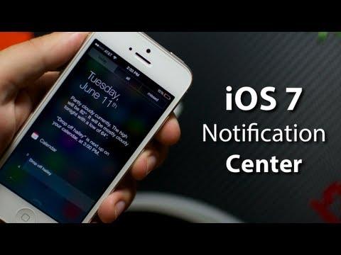 iOS 7 - Notification Center On iPhone 5