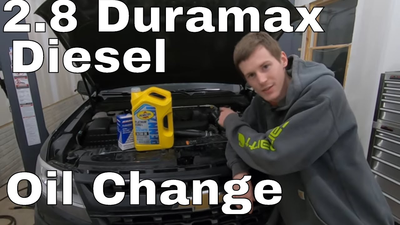 2 8 Duramax Chevy Colorado Gmc Canyon Oil Change Youtube