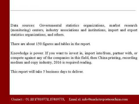 China printing, recording medium and copy industry, 2016