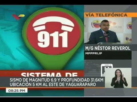 """Nestor Reverol a las 8:23 pm sobre el sismo y la """"Torre de David"""" en Caracas"""