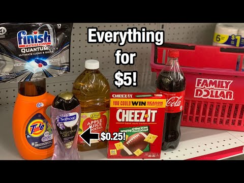 Family Dollar | Coupon Deals For 10/13 - 10/19 | $0.25 Soft Soap & $0.50 Finish!