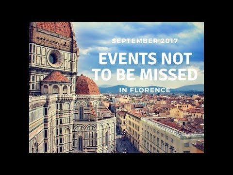 September in Florence, events not to be missed