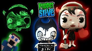 Bendy and the Ink Machine Funko Pop Awesome Custom Figures Boris Alice Exclusive Puppet Steve