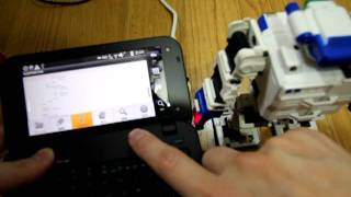 Android microBridge+luarida And iSobot control demonstration.