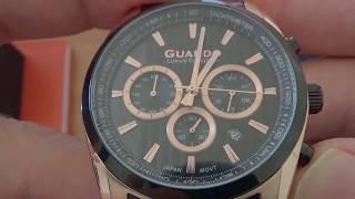 Наручные часы GUARDO распаковка и общий вид.