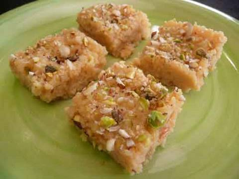 Indian Food Ricotta Cheese Barfi Doovi