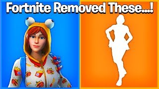Fortnite Removed These Cosmetics For No Reason...! *RIP* Default Dance