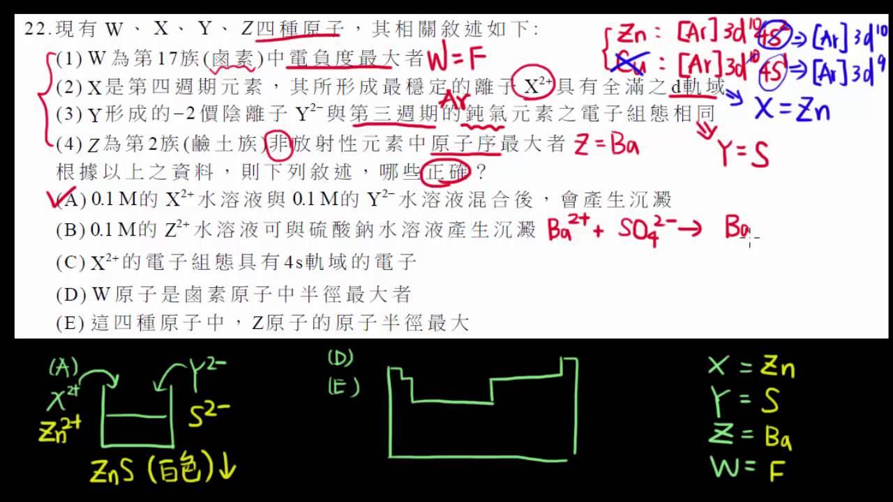 103指考化學第22題 - YouTube