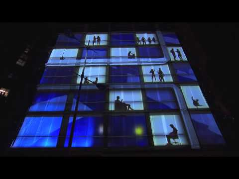 The world's first 4D projection on an unfinished building