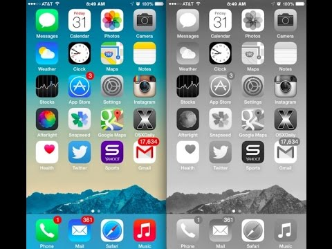 how to use grayscale on ios 8