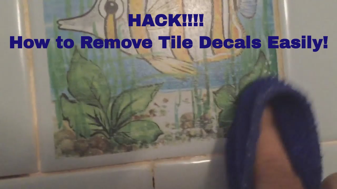 how to easily remove tile decals stickers from backsplash - Removing Tile Backsplash