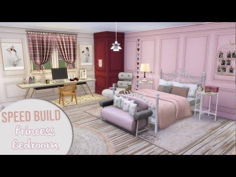 The Sims 4 Speed Build | MODERN PRINCESS BEDROOM + CC Links ...
