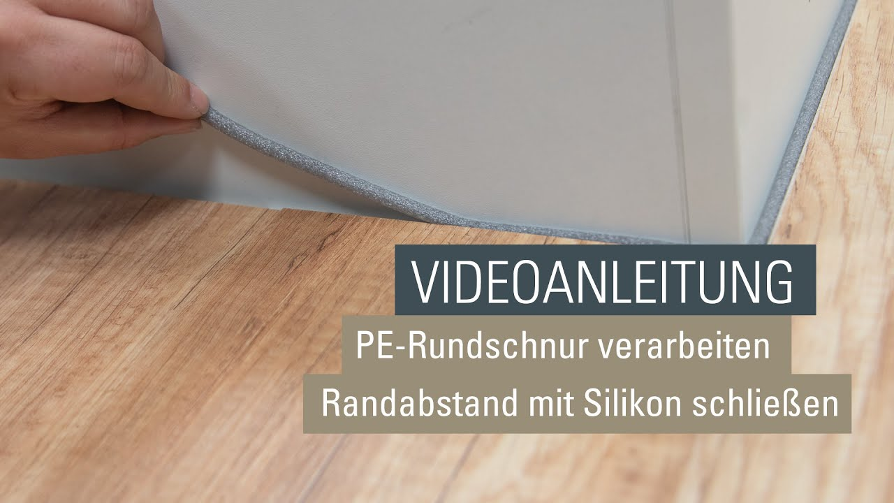 Randabstand mit einer PE Rundschnur und Silikon versiegeln