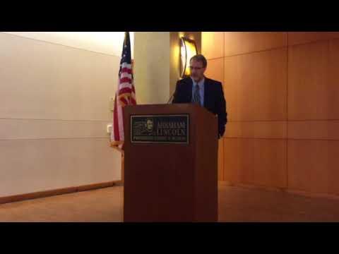 Scott Johnson speaks at Abraham Lincoln Presidential Library