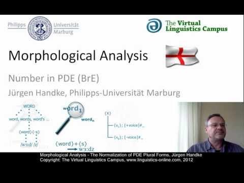 MOR106 - Morphological Analysis (PDE)