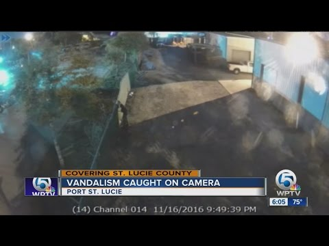 Vandalism caught on camera