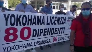 """Vertenza Yokohama, lavoratori incontrano Catalfo: """"Sia riconosciuto il nostro status di lavoratori"""""""