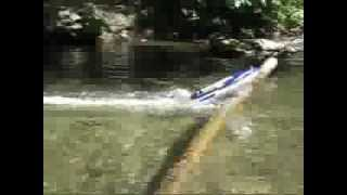 sickest r/c nqd jet boat jump ever caught on film ,fast