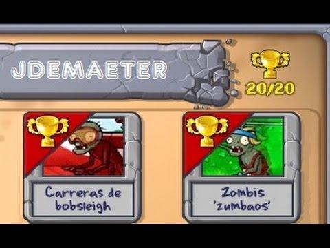 Juguemos Plants VS Zombies - Minijuegos - Carreras De Bobsleigh Y Zombis ´zumbaos´