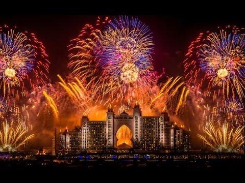 Dubai Newyear 2015 Fireworks In 4k World Record Youtube