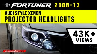 AGTF903, Toyota Fortuner AUDI Q5 Style DRL XENON HID Projector Headlights with 55Watt HID