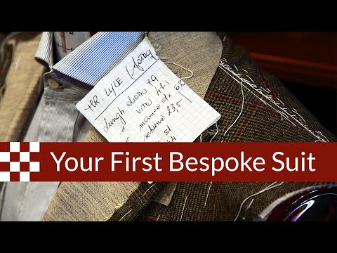 Acquiring your First Bespoke Suit : What to Expect?
