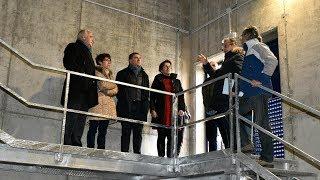 Visita al nuevo depósito de agua de Castañares de Rioja