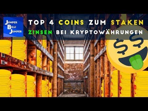 Die besten 4 Coins zum Staken - Zinsen bei Kryptowährungen