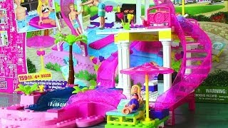 Mega Bloks Barbie Pool Party with Barbie Doll and Ken Doll - Life in a Dream House Lego